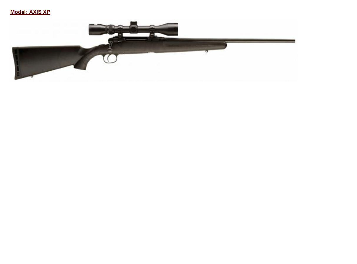 Savage arms AXIS XP s optikou